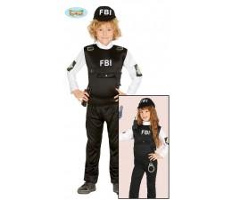 Costume Agente F. B. I Unisex
