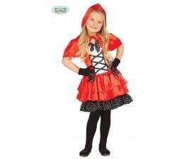 Costume Cappuccetto Rosso Pois