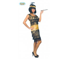 Costume Charleston Oro e...