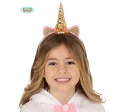 Cerchietto Unicorno Oro con...