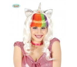 Parrucca Unicorno Bianca