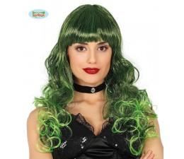 Parrucca con Meche Verde