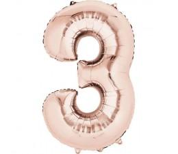 Numero 3 Rosa Gold 40cm.