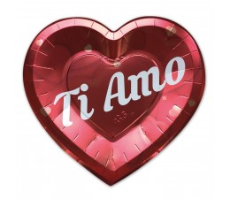 """Piatti Cuore """"Ti Amo"""". 24 x..."""