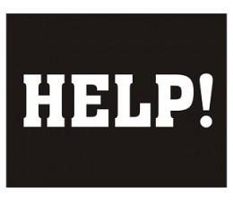 Adesivi Help ! . 2 Pz.