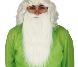 Barba con Baffi bianca