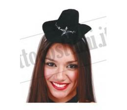Cappello Mini Cow Girl Nero...