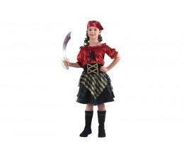 Costume Pirata Rossa Bimba