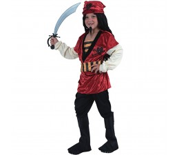 Costume Pirata Rojo Bimbo